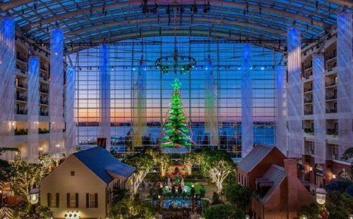 LaMere Family Travel Coralville Iowa City New Years Eve Gala 2022 Atrium Christmas DanHam